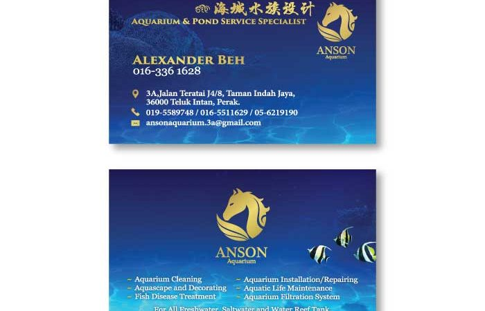de owl, business card, Anson Aquarium