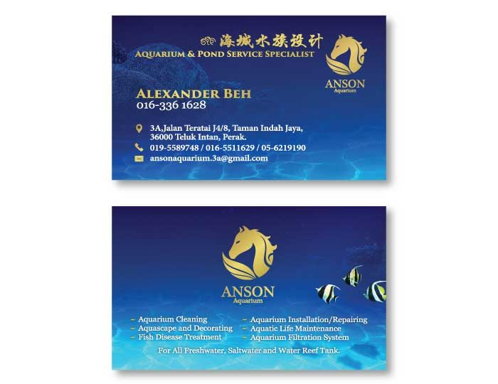 de owl, business card, Anson Aquarium