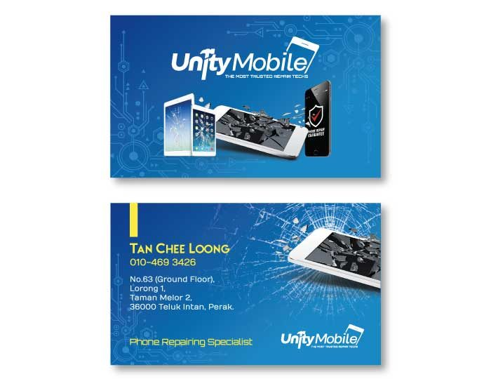 de owl, business card, Unity Mobile