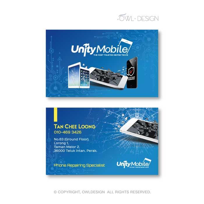 de owl, business card, Unity Mobile
