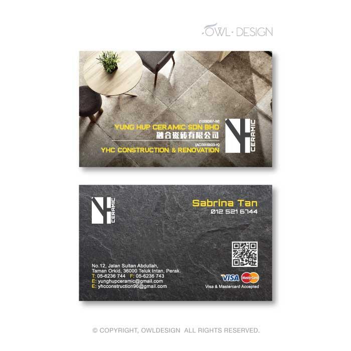 de owl, business card, Yung Hup Ceramic