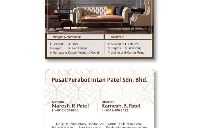 de owl, business card, Pusat Perabot Intan Patel
