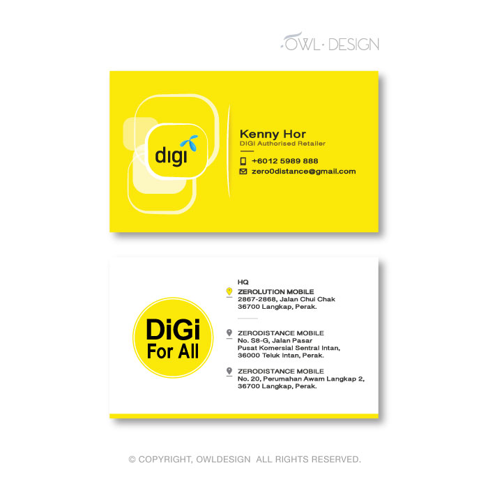 de owl, business card, Digi