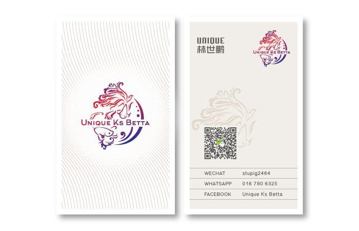 de owl, business card, Unique Ks Betta