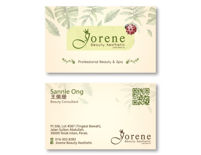 de owl, business card, Jorene