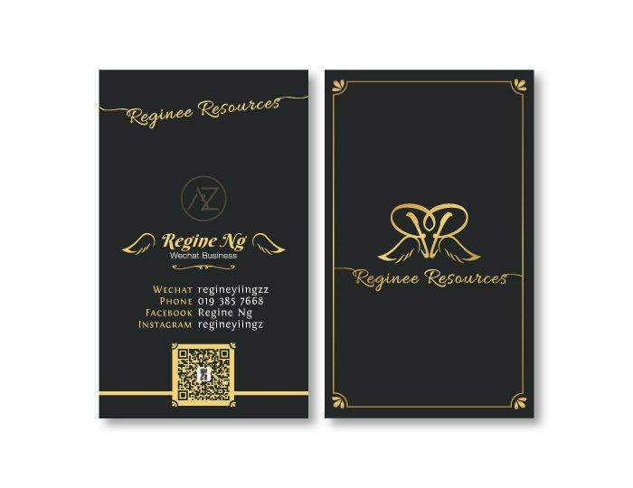de owl, business card, Reginee Resources