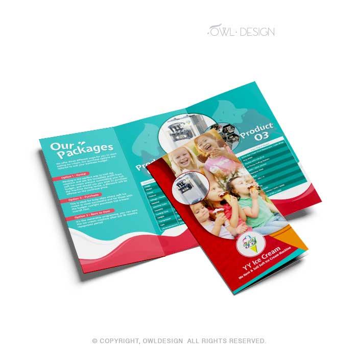 de owl, brochure, YY Icecream